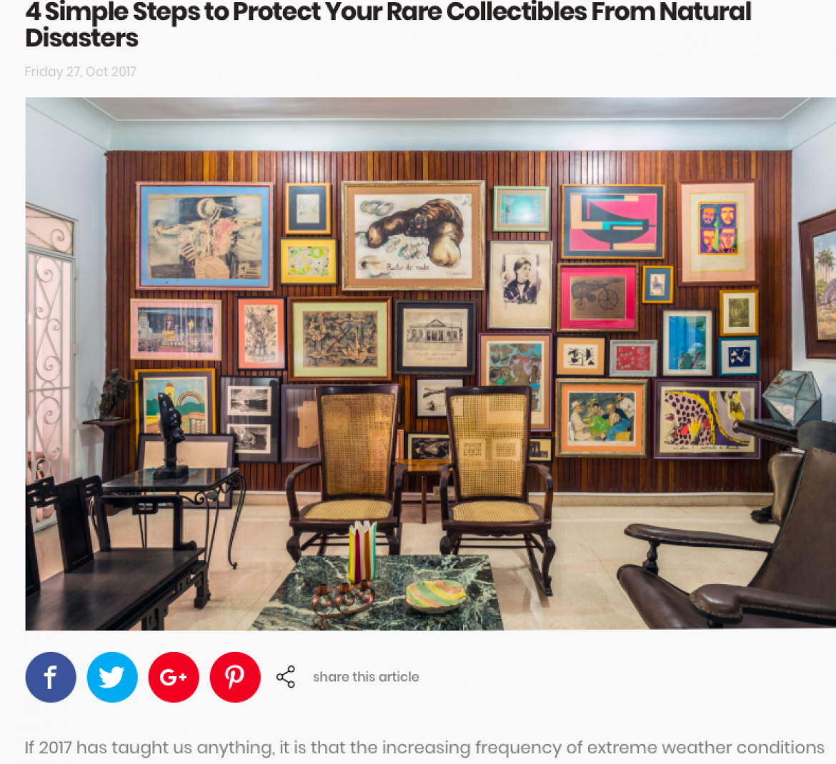 Sortly.com Features David J. Goldberg On Saving Collectibles From Flood & Fire